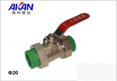 【冷热水管】保利绿色双活接PPR铜球阀(Ⅲ)